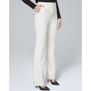 NWT WHBM Luxe Suiting Boot Cut Pants in Ecru